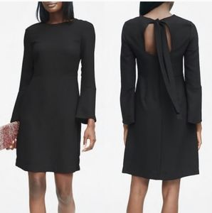 Banana Republic Black Long Sleeve A Line Dress